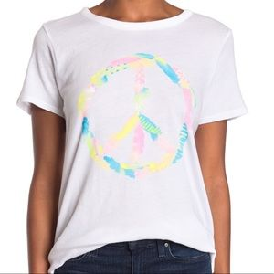 Chaser Peace Sign Graphic Tee Short Sleeve XS